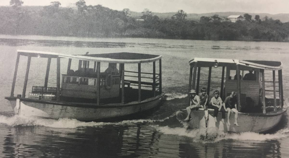 Our history: Two Lower Manning Dairy Factory Cream Boats as they prepare to berth at the factory's wharf, which was located in Pitt Street, Taree. The factory operated five cream boats. Source: Past Days Around the Manning.