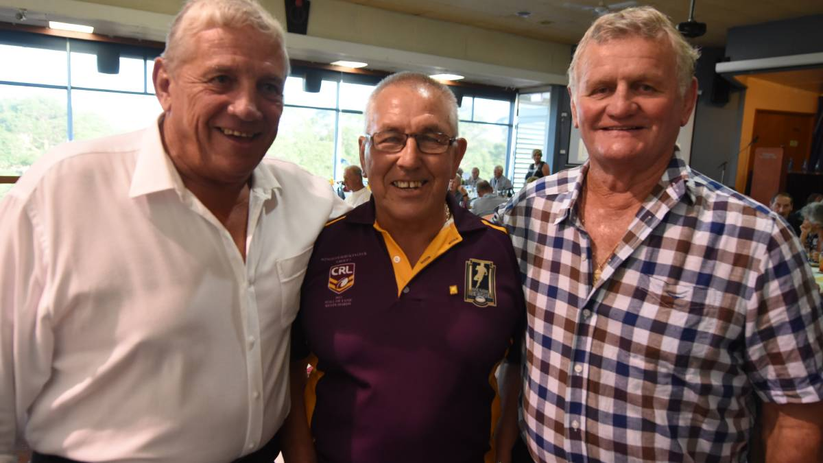Hall of fame members Garry McQuillan from Forster (left), Kevin Hardy from Taree and Errol Ruprecht from Taree at the induction evening held earlier this year.