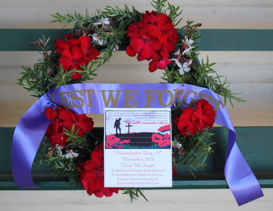 Tinonee Topics: Wreath placed in remembrance