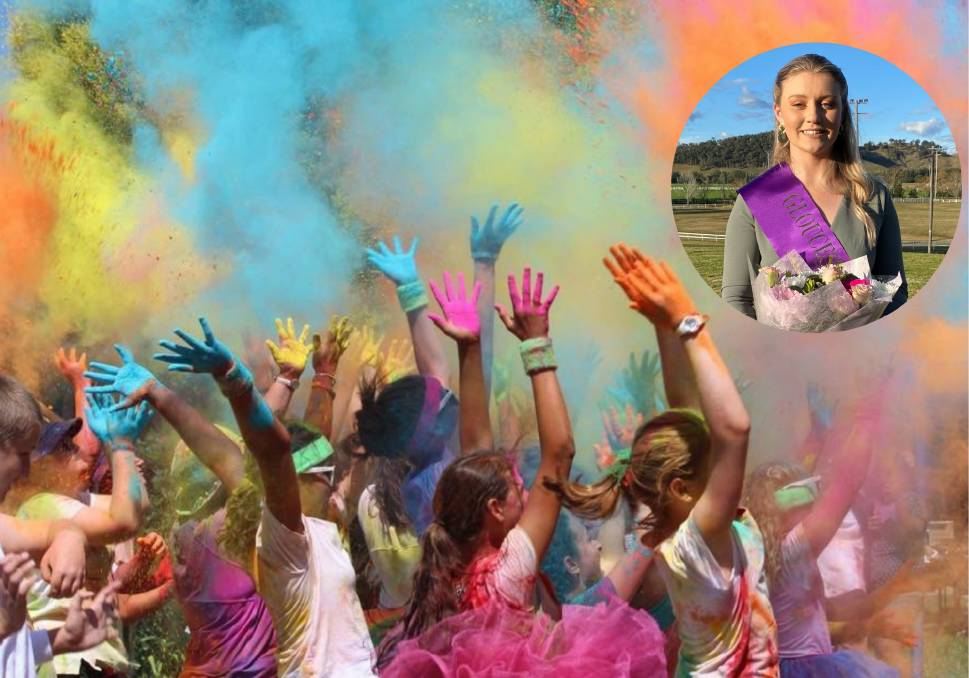 Gloucester Showgirl Taylah Eyre-Hughes (insert) is organising a colour run as part of the 2021 Gloucester Show.