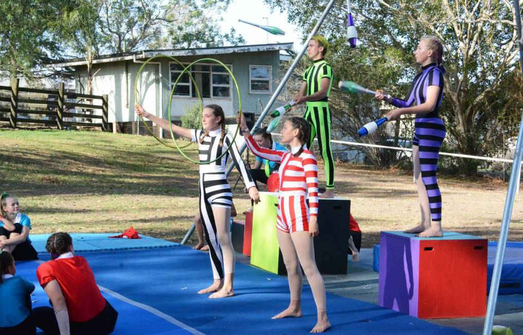 Wingham Circartus students performing at the 2019 Wingham Akoostik Festival.