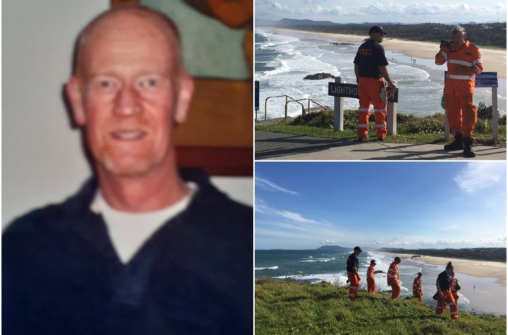 Missing: The search for 56-year-old Mark James of Port Macquarie will enter its third day on Monday.