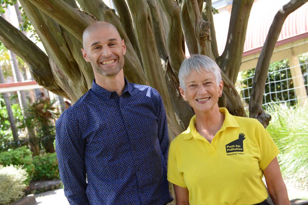 Palliative care specialist Dr Arron Veltre and Manning Valley Push 4 Palliative founder Judy Hollingworth. Dr Veltre is Manning Base Hospital's permanent palliative care specialist. Photo: Scott Calvin
