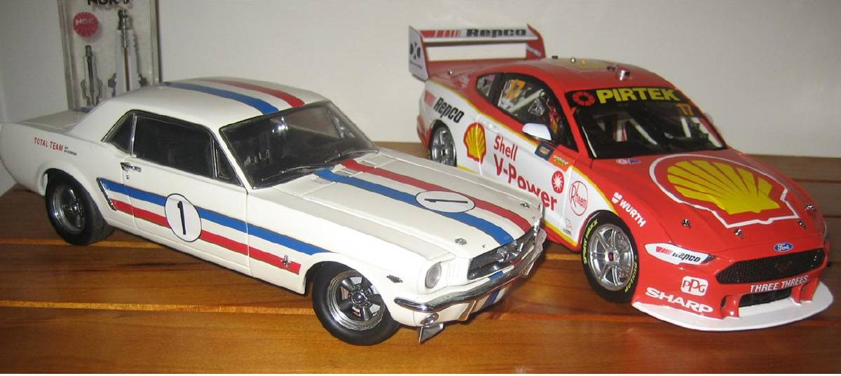 Models of the Geoghegan and McLaughlin Mustangs