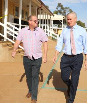 BIG FOCUS: Trundle Central School principal and 2021 Australian of the Year Award nominee John Southon, with Member for Riverina Michael McCormack, would like to see more political representation in the country.